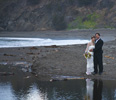 <strong>Small Weddings &mdash; The Beauty of the Setting</strong><br /> When the wedding is held in such a beautiful site, what can be better than the couple captured their, with their reflection in the ocean tide pool
